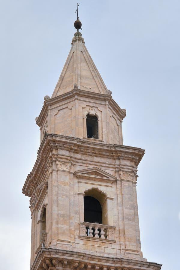 Igreja de St Francesco andria Puglia Italy imagem de stock
