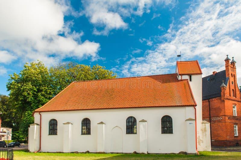 Igreja de St George em Darlowo fotos de stock