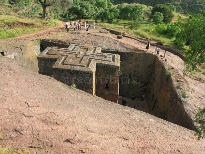 Igreja de St George, Lalibela, Etiópia imagens de stock royalty free
