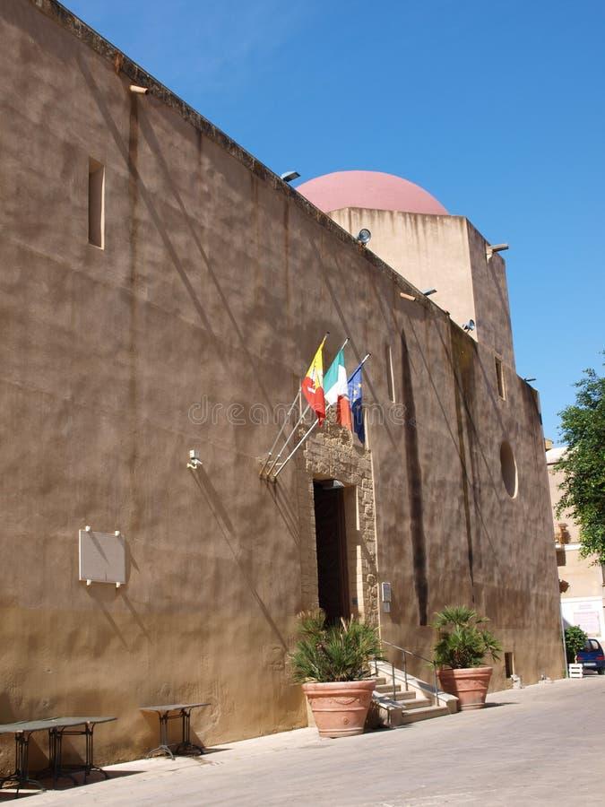 Igreja de St Giles, Mazara del Vallo, Sicília, Itália imagem de stock royalty free