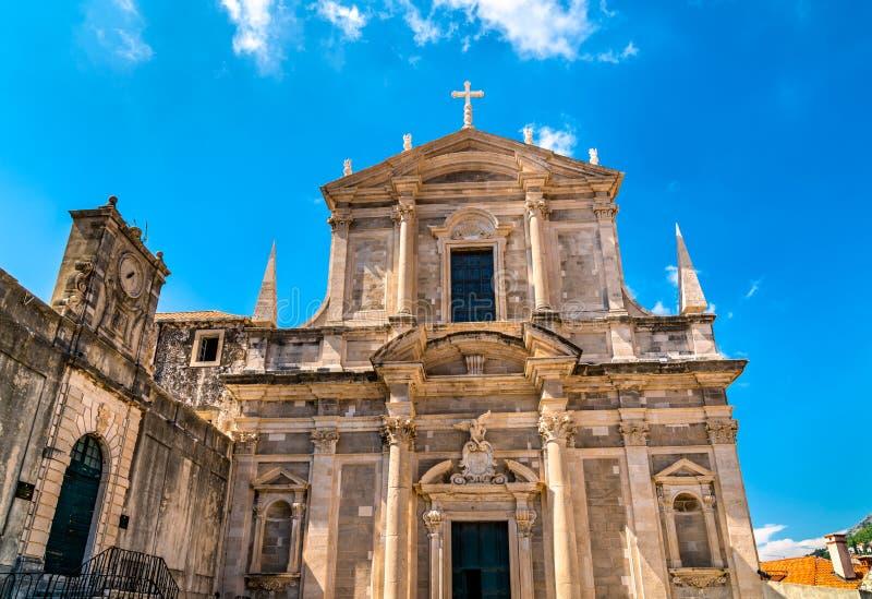 Igreja de St Ignatius em Dubrovnik, Croácia foto de stock