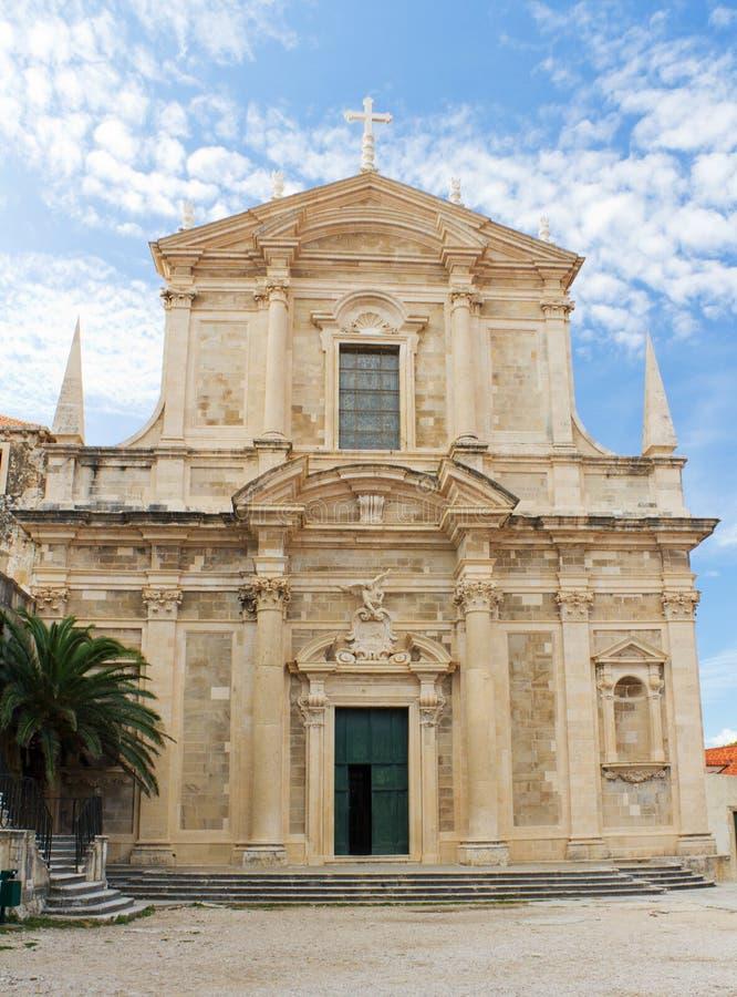Igreja de St. Ignatius em Dubrovnik, Croatia imagem de stock
