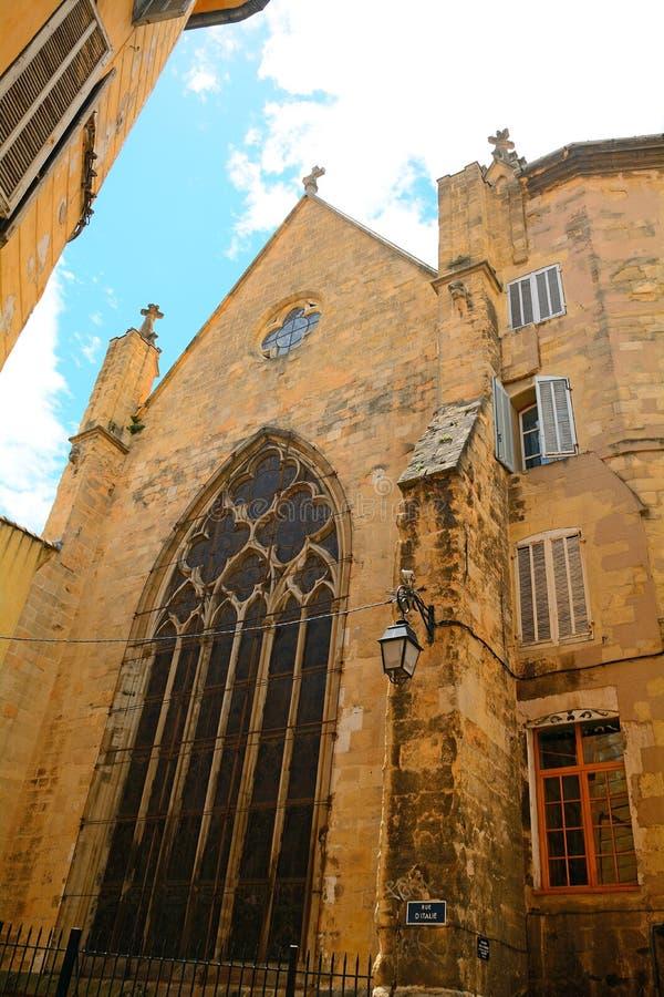 Igreja de St Jean-de-Malte, Aix-en-Provence, França imagens de stock royalty free