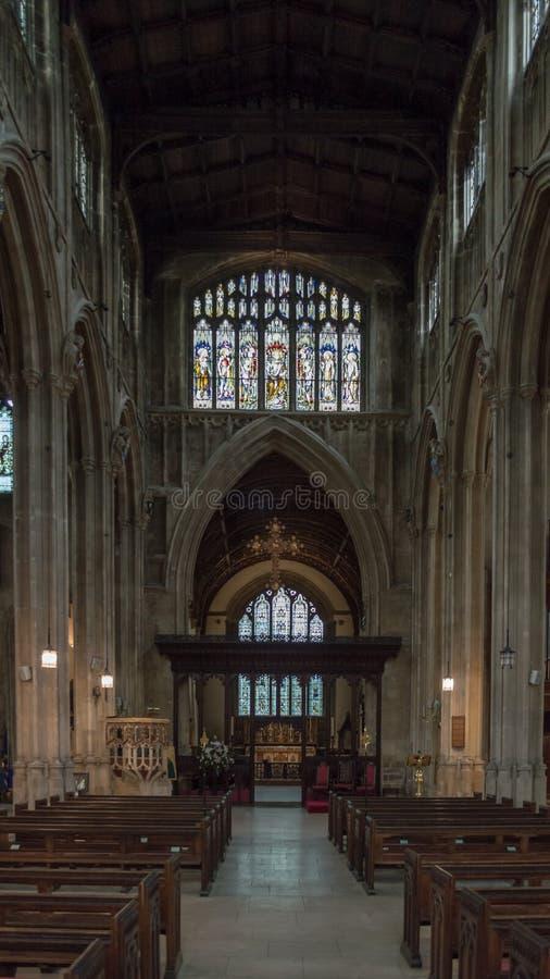 Igreja de St John Baptist Nave B imagem de stock