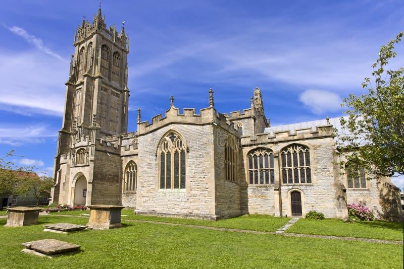 A igreja de St John em Glastonbury, Somerset, Inglaterra, Reino Unido (Reino Unido) imagens de stock
