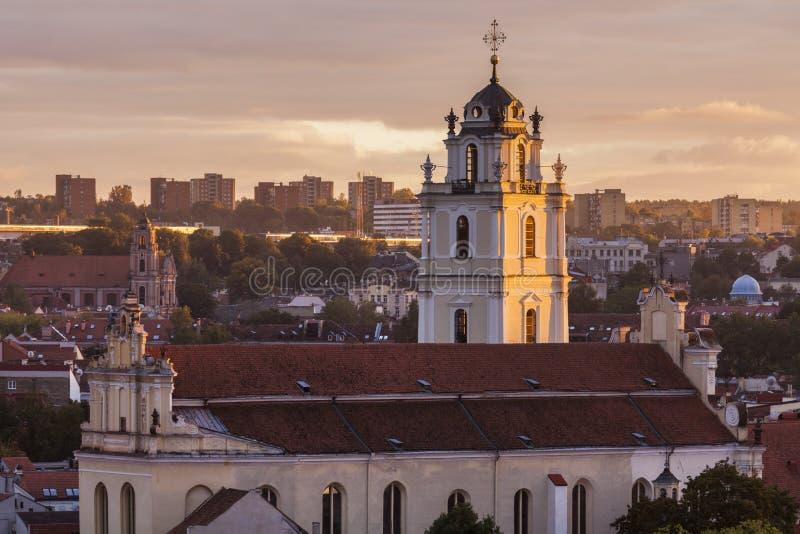 Igreja de St John em Vilnius fotografia de stock royalty free