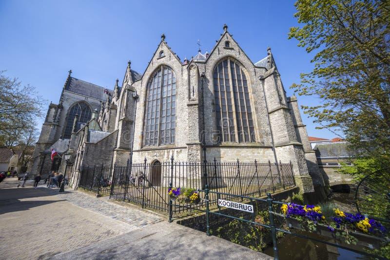 Igreja de St John, Gouda fotografia de stock