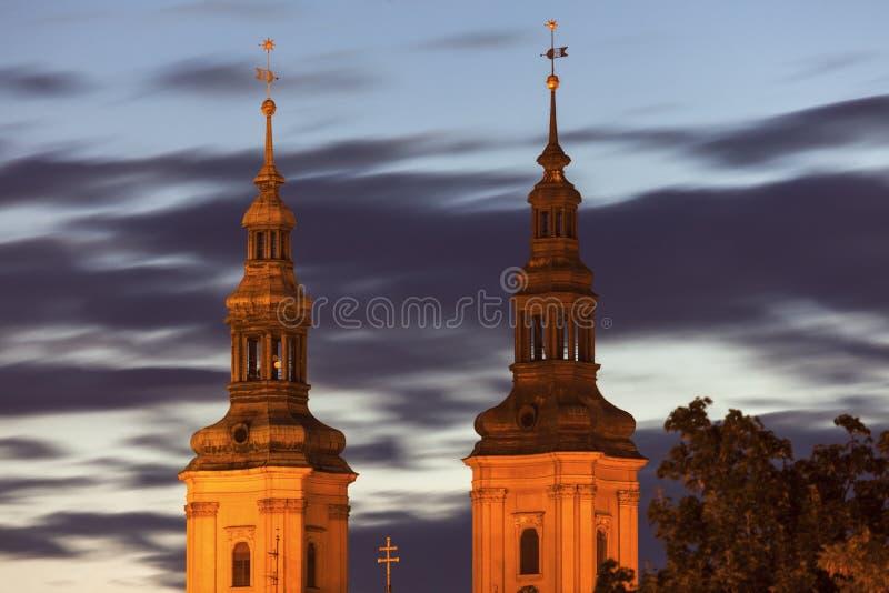 Igreja de St John o batista em Legnica foto de stock royalty free