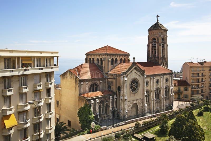 Igreja de St Joseph em Cantão de Beausoleil france imagens de stock royalty free