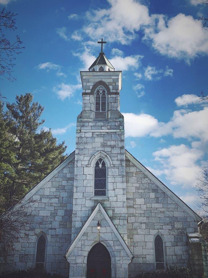 Igreja de St Joseph em Connecticut imagens de stock royalty free