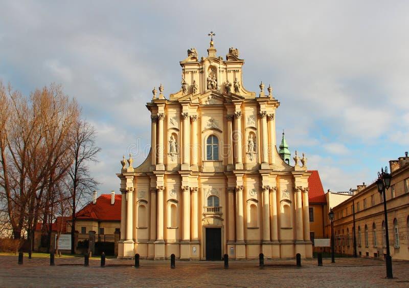 Igreja de St. Joseph em Varsóvia foto de stock royalty free