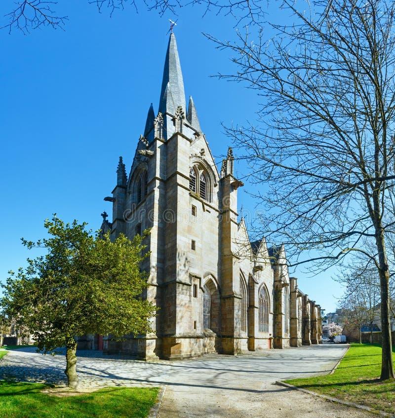 Igreja de St Leonard, Fougeres, França fotografia de stock royalty free