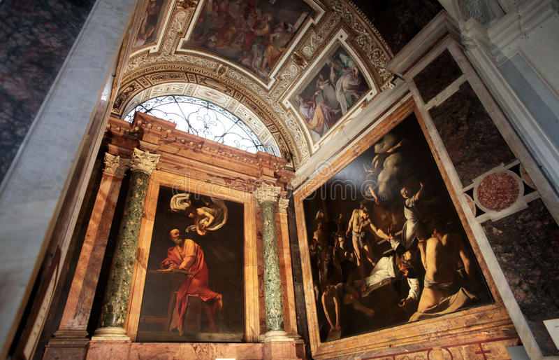 A igreja de St Louis do francês em Roma fotografia de stock royalty free