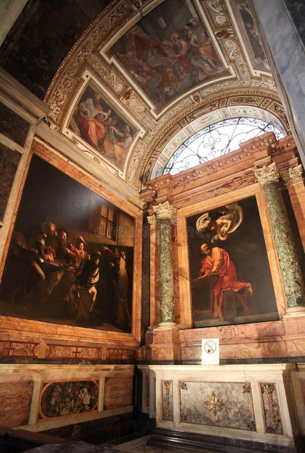 A igreja de St Louis do francês em Roma imagem de stock royalty free