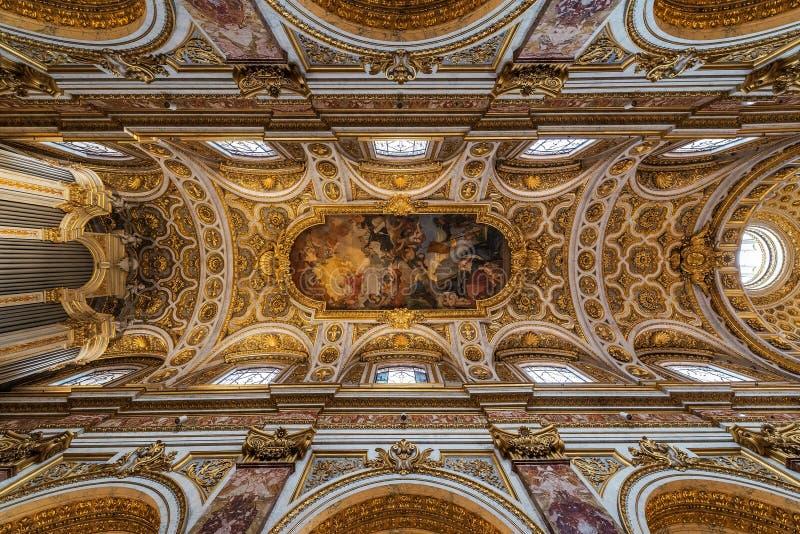 Igreja de St Louis do francês, Roma, Itália imagens de stock