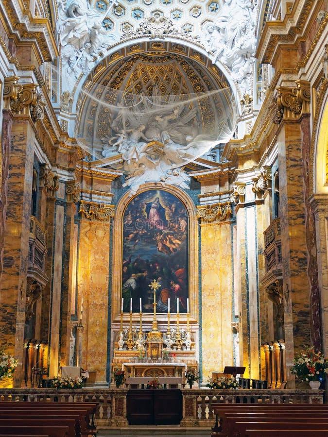 A igreja de St Louis do francês, Roma, Itália fotografia de stock