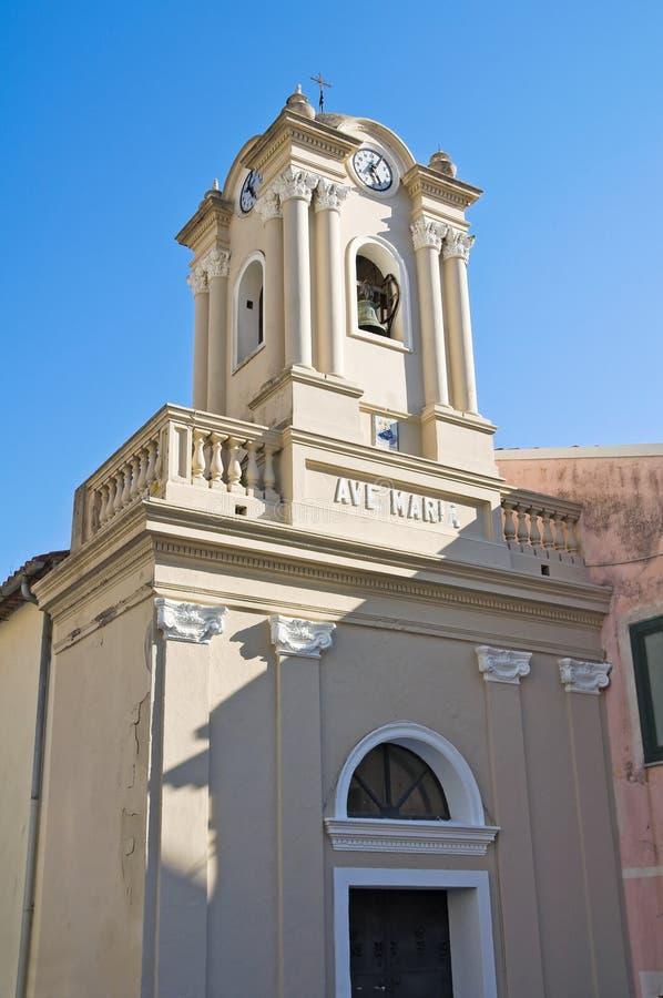 Igreja de St. Maria di Porto Salvo. Maratea. Basilicata. Itália. imagem de stock