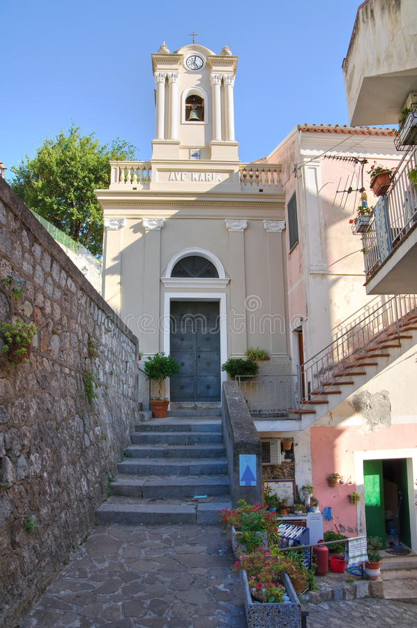 Igreja de St. Maria di Porto Salvo. Maratea. Basilicata. Itália. imagens de stock royalty free