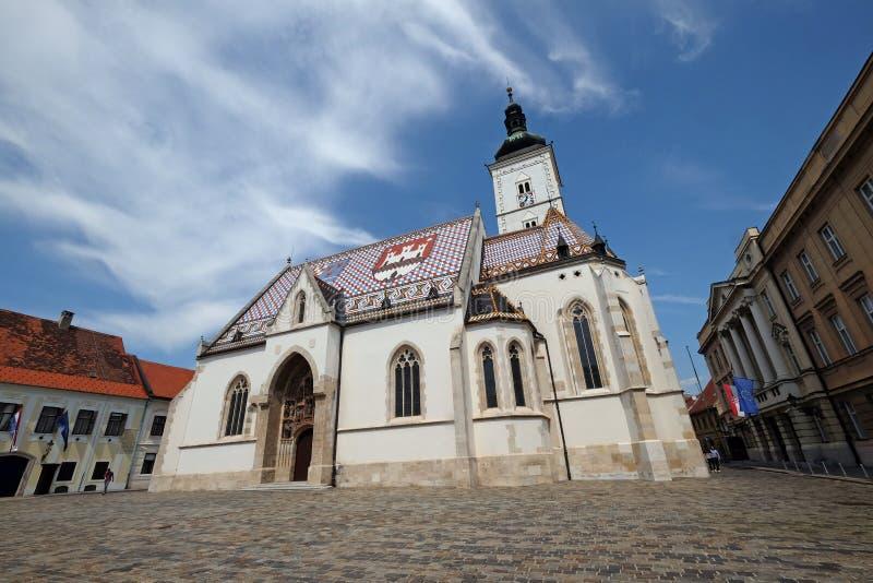 Igreja de St Mark em Zagreb imagem de stock royalty free