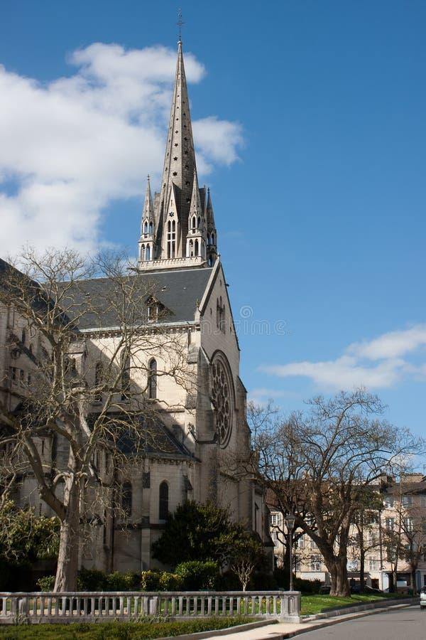 Igreja de St Martin em Pau. fotografia de stock royalty free
