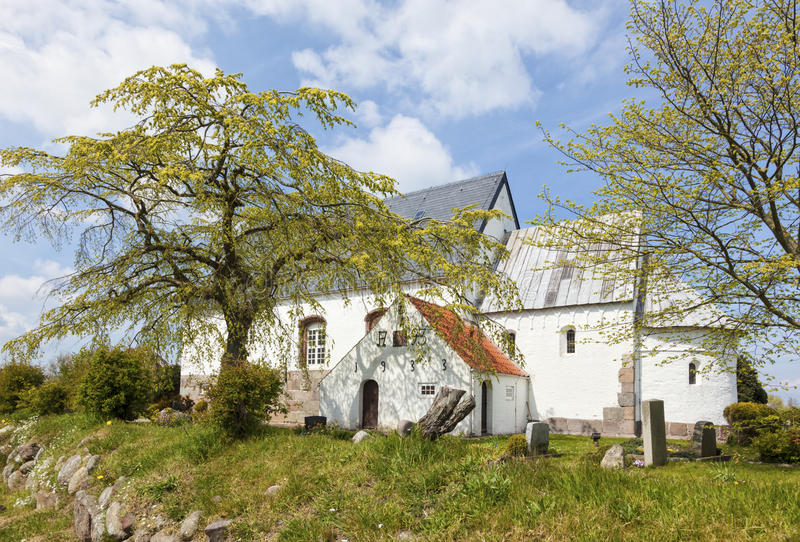 Igreja de St Martins em Morsum, Sylt foto de stock