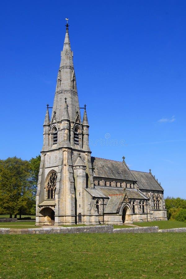 Igreja de St Mary, abadia das fontes imagem de stock royalty free
