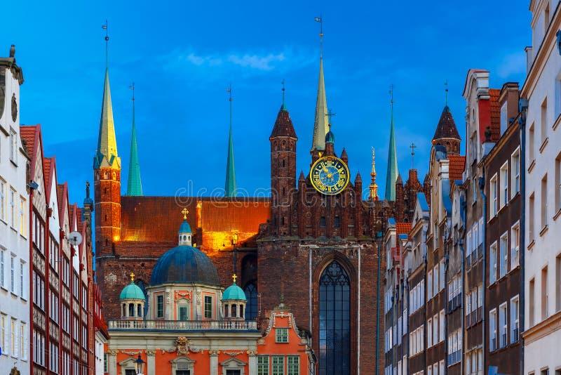 A igreja de St Mary e capela real, Gdansk, Polônia fotos de stock