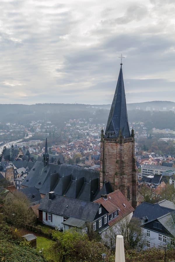 A igreja de St Mary em Marburg, Alemanha foto de stock royalty free