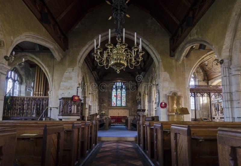 A igreja de St Mary, Goudhurst, Kent, Reino Unido fotografia de stock royalty free