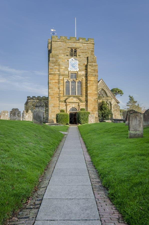 A igreja de St Mary, Goudhurst, Kent, Reino Unido fotos de stock royalty free