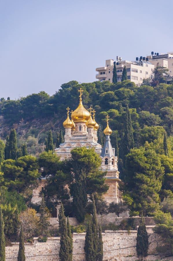 Igreja de St Mary Magdalene no Jerusalém imagem de stock