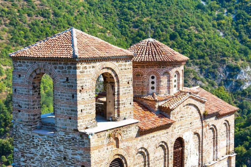 Igreja de St Mary na fortaleza do ` s de Asen fotos de stock
