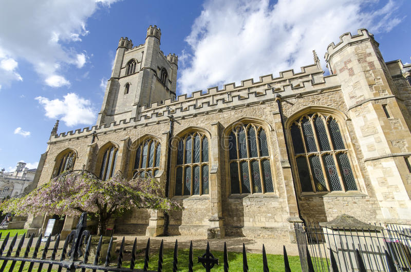 Igreja de St Mary o grande em Cambridge fotografia de stock royalty free