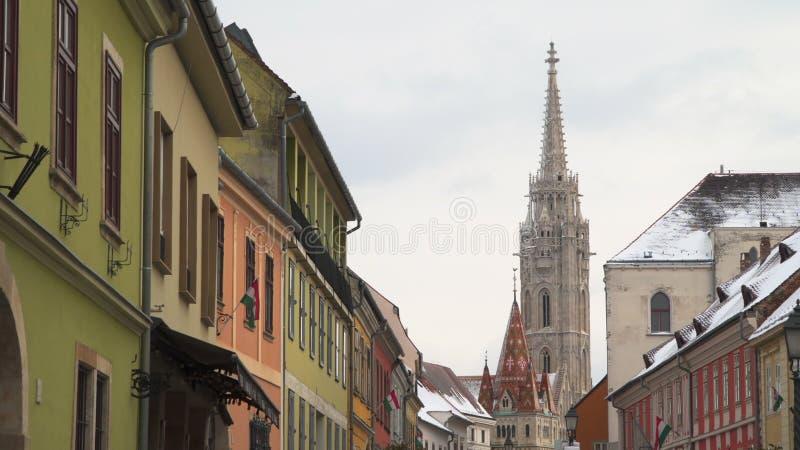 Igreja de St Matthias Budapest, Hungria foto de stock royalty free