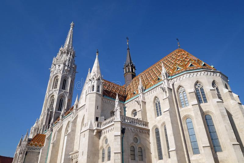 Igreja de St Matthias em Budapest foto de stock