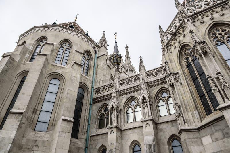 Igreja de St Matthias na cidade de Budapest fotografia de stock royalty free