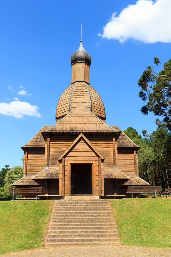 Igreja de St Michael, memorial ucraniano, Curitiba, stat de Parana imagem de stock royalty free