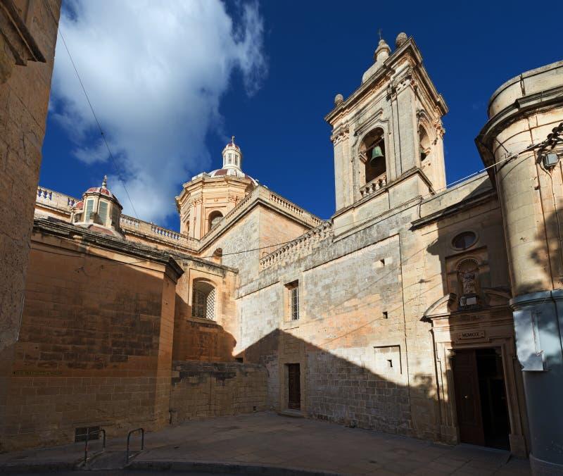Igreja de St Paul em Rabat Malta foto de stock