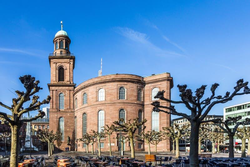 A igreja de St Paul, Francoforte - am - cano principal foto de stock royalty free