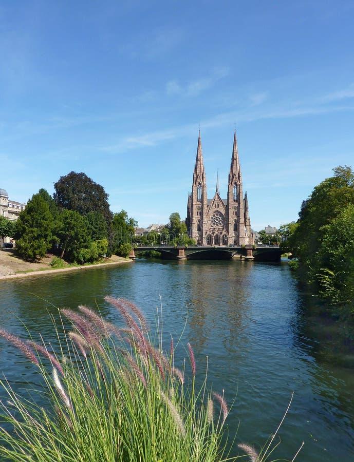 Igreja de St Paul Strasbourg, France fotos de stock royalty free