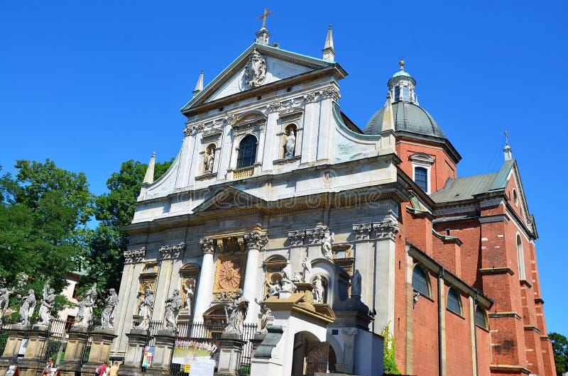 Igreja de St Peter e de St Paul em Krakow fotos de stock
