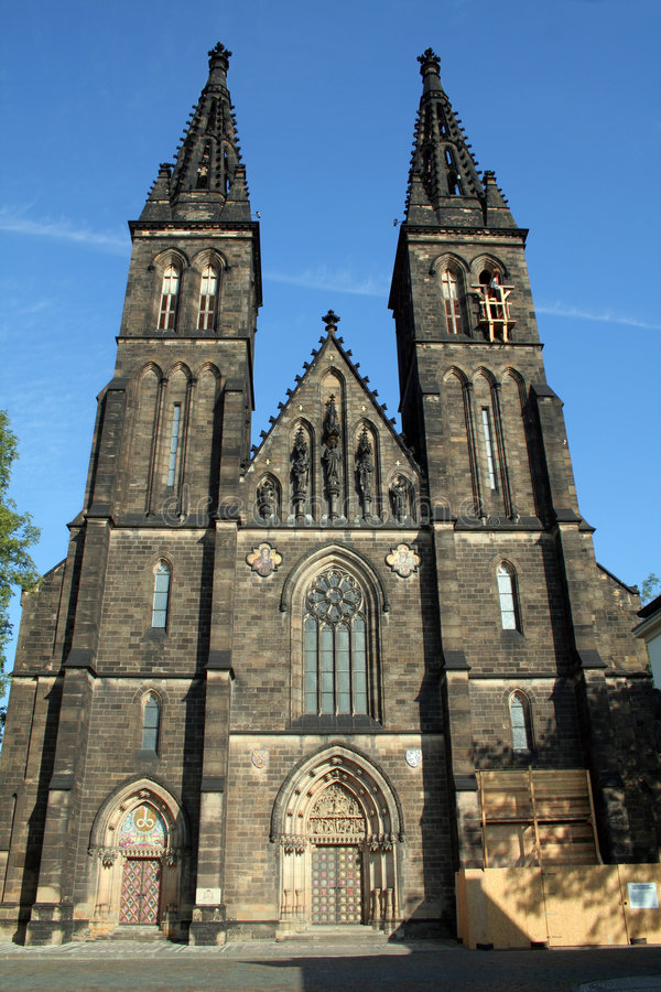 Igreja de St Peter e de St Paul em Vysehrad imagem de stock royalty free