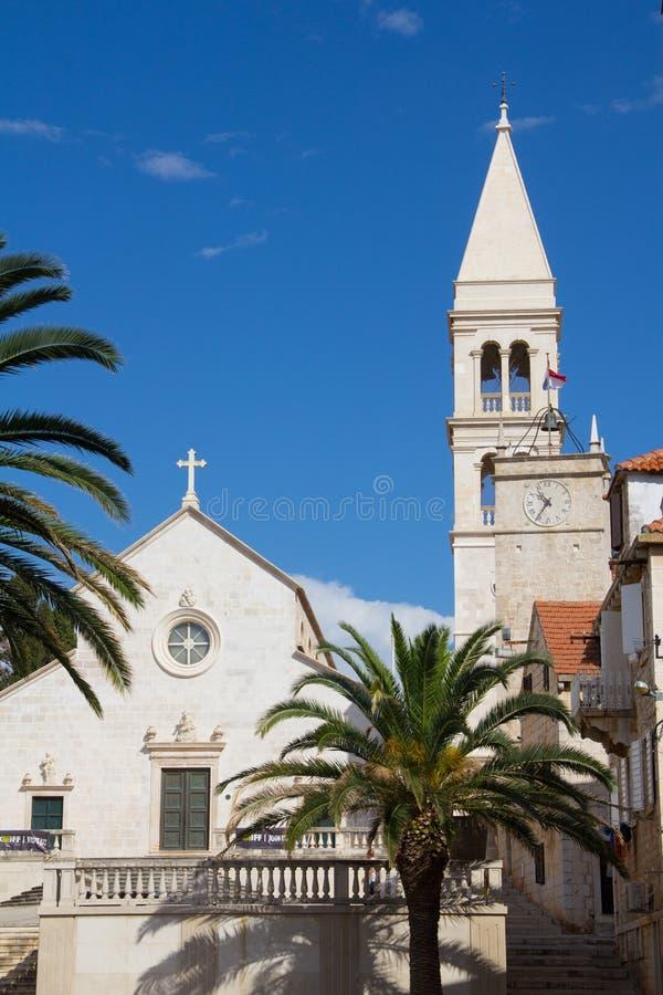 Igreja de St Peter em Supetar foto de stock royalty free