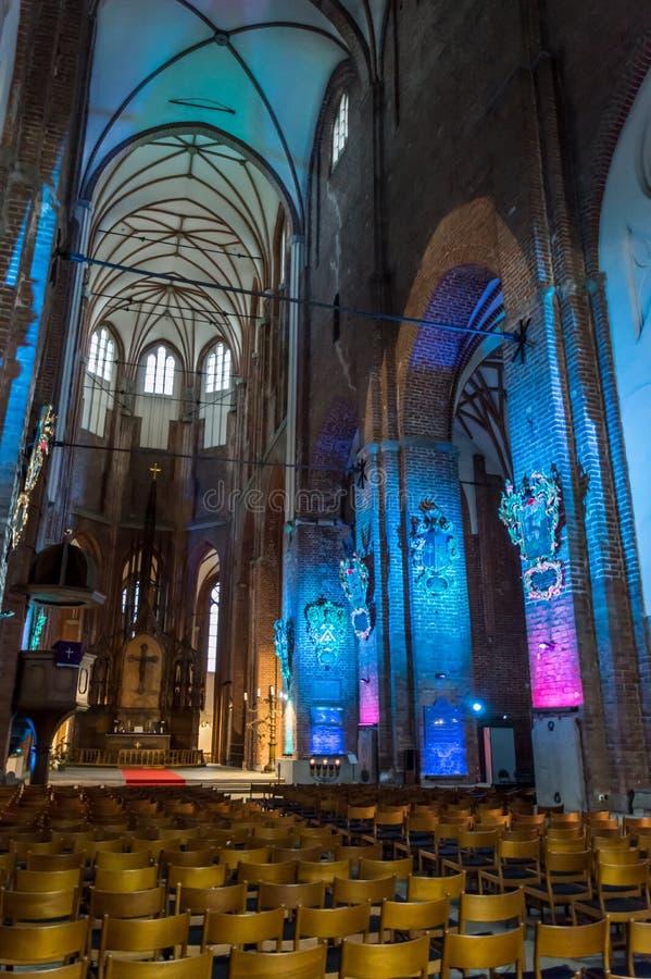 A igreja de St Peter, Riga Letónia imagens de stock