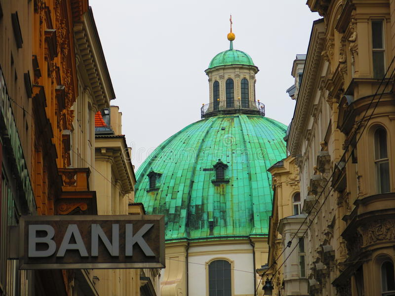 Igreja de St Peters em Viena fotografia de stock royalty free