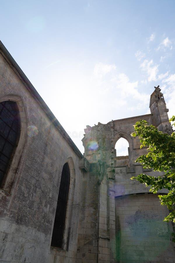 Igreja de St Pierre na ilha do St Martin de Re no oeste sul de França imagens de stock