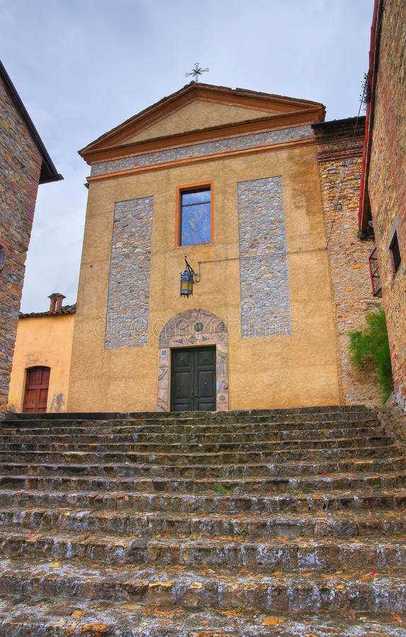 Igreja de St. Silvestro. Salsomaggiore. Emilia-Romagna. Itália. fotos de stock royalty free