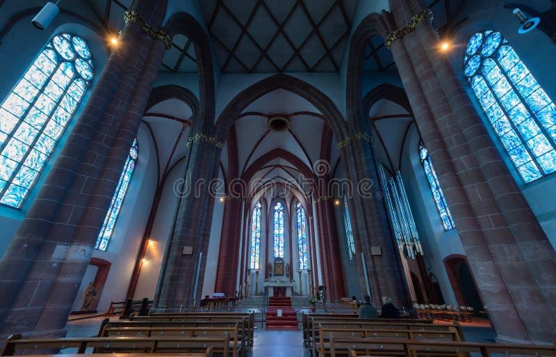 A igreja de St Stephen em Mainz Alemanha foto de stock royalty free