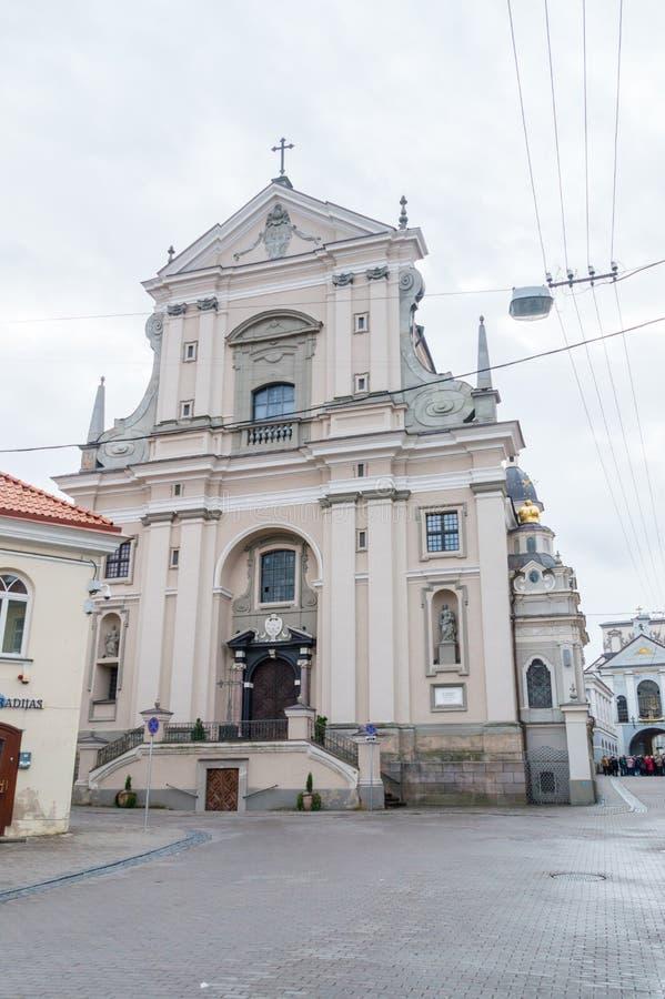 A igreja de St Theresa é uma das construções cedo barrocos em Lituânia imagem de stock royalty free