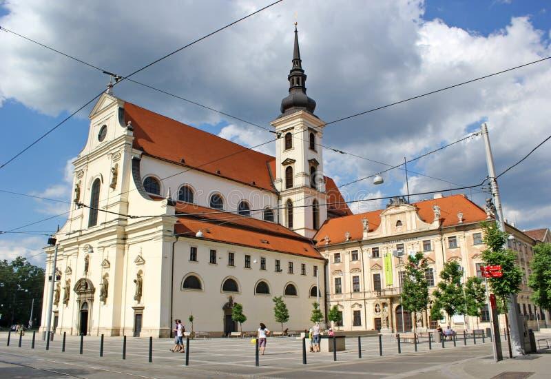 Igreja de St Thomas, Brno, república checa fotografia de stock royalty free